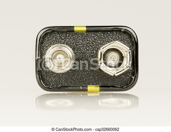 9, volt, haut, batterie, fin - csp32660062