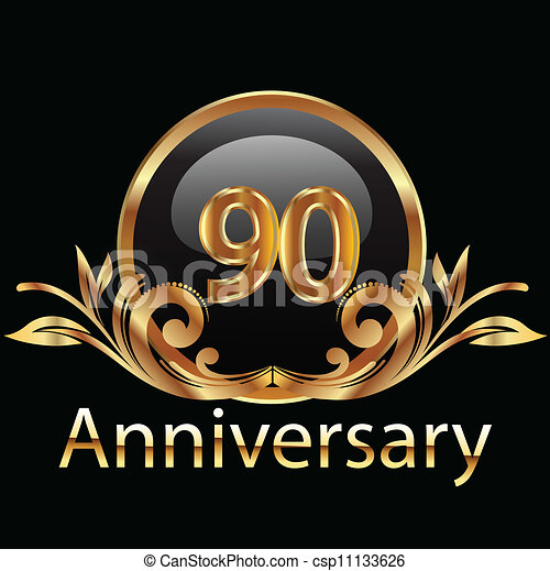 90 anniversary happy birthday - csp11133626