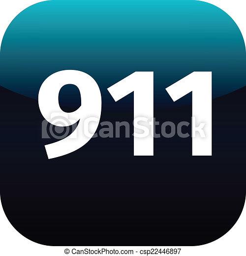 911 emergency icon - csp22446897