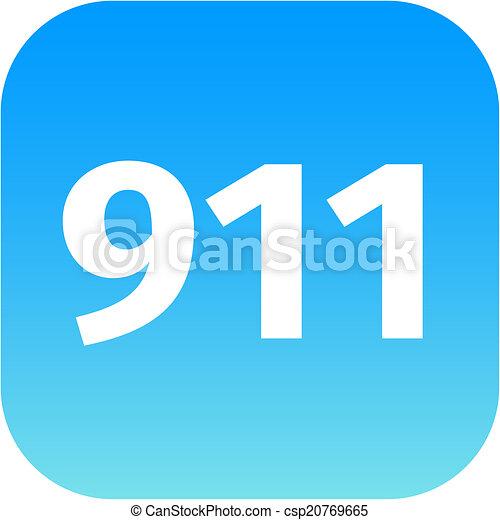 911 emergency icon - csp20769665