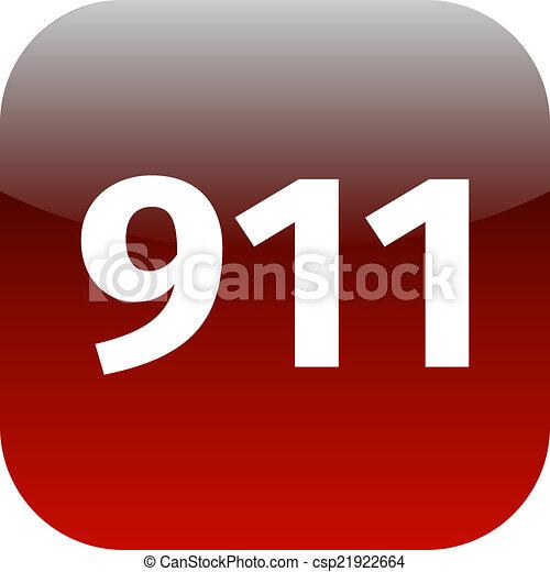 911 emergency icon - csp21922664