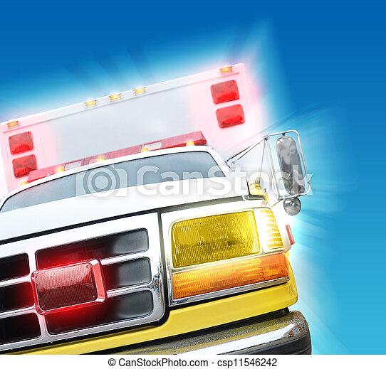 911, lastwagen, rettung, krankenwagen - csp11546242