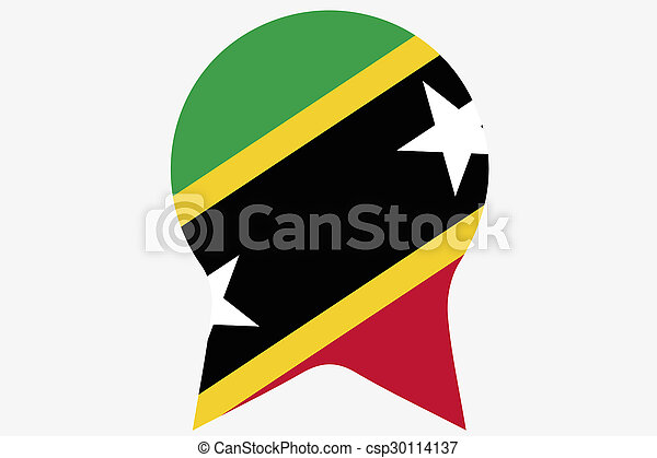 _Flags(Base)3 Saint Kitts and Nevis - csp30114137