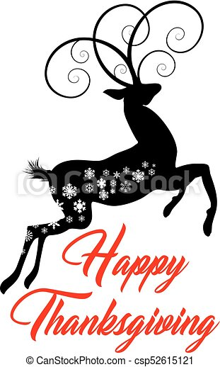 ação graças, cartão, feliz - csp52615121