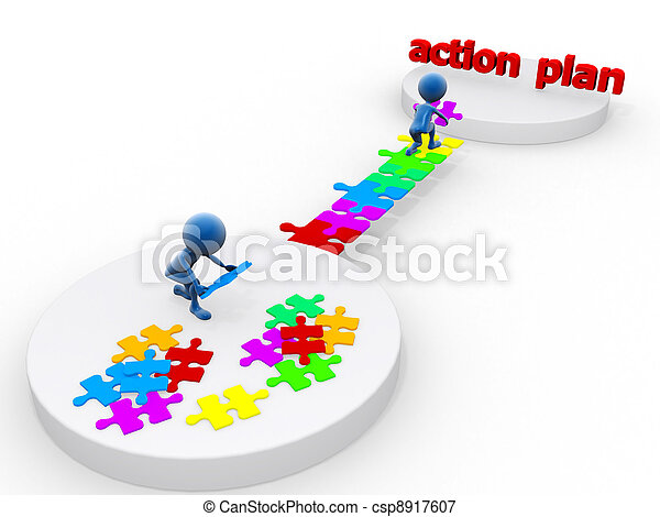 ação, plano - csp8917607