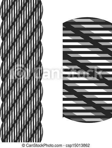 aço, corda, vetorial, fio, seamless - csp15013862