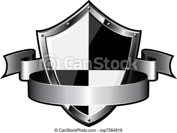 aço, escudo, fita - csp7564819