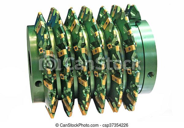 aço, hobbing, cortador - csp37354226