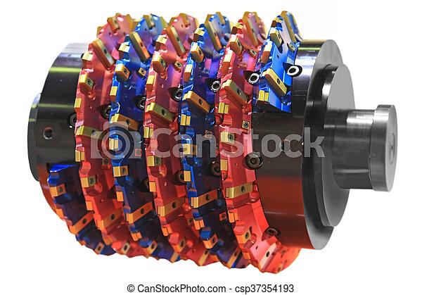 aço, hobbing, cortador - csp37354193