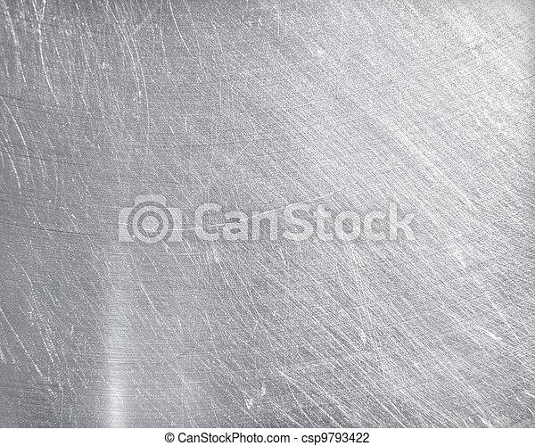 aço, prato, res, metal, textura, experiência., olá - csp9793422