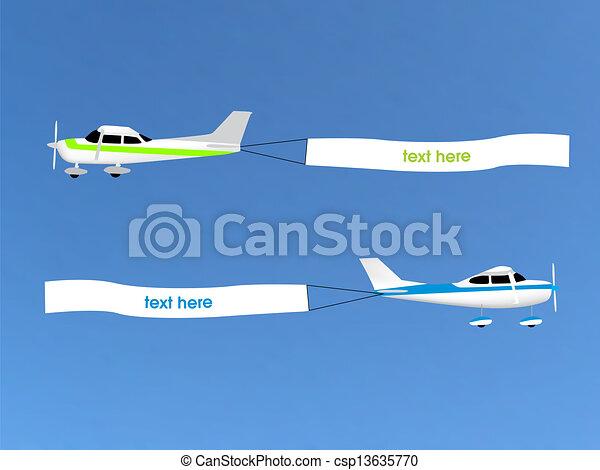 aéreo, anunciando - csp13635770