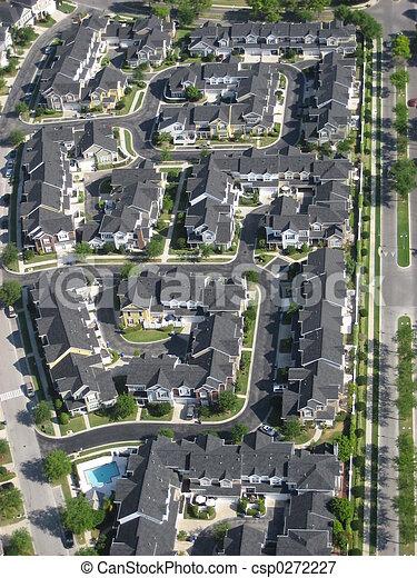 Aéreo de apartamentos - csp0272227