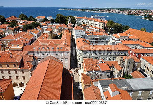 Vista aérea de zadar, croata - csp22210867