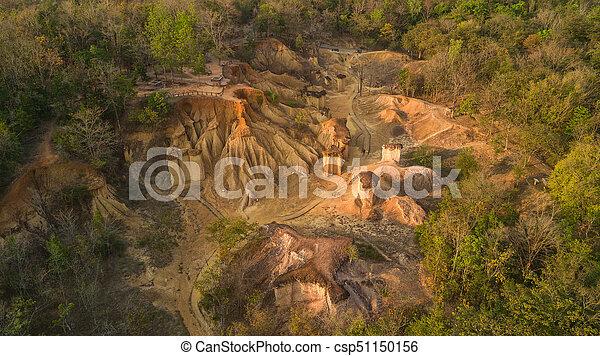 Vista aérea de la erosión de arenisca - csp51150156