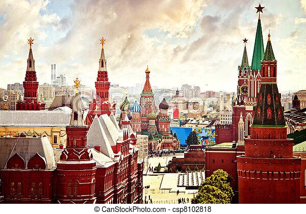 Vista aérea kremlin - csp8102818