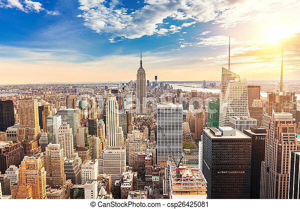 Vista aérea de Manhattan - csp26425081
