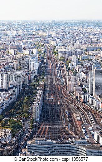 Una vista aérea de París - csp11356577