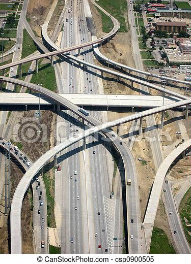 aéreo, rodovia, vista - csp0900505