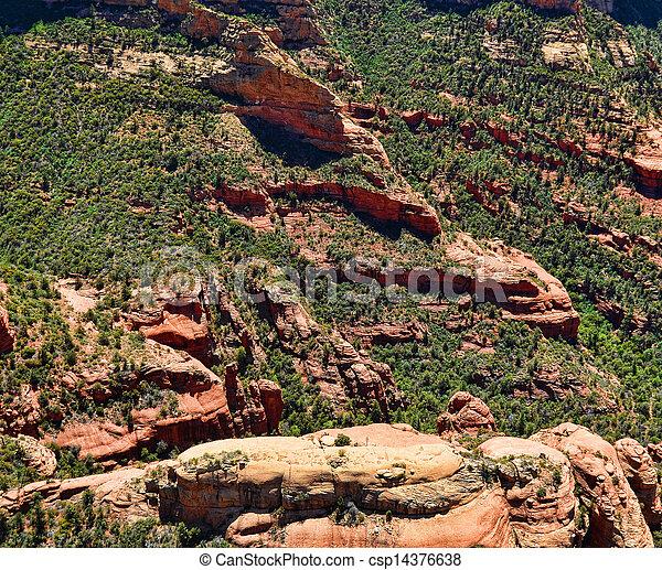 Vista aérea de Sedona - csp14376638