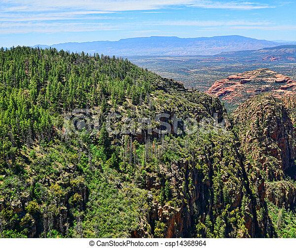 Vista aérea de Sedona - csp14368964