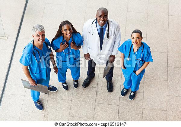 aérien, ouvriers, vue, groupe, healthcare - csp16516147