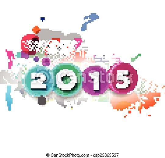 Feliz Año Nuevo 2015 antecedentes - csp23863537