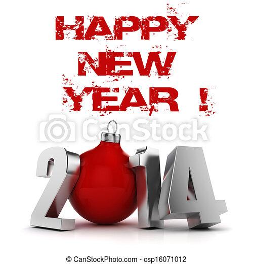 3D feliz año nuevo 2014! - csp16071012