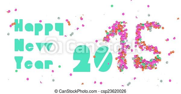 Feliz año nuevo 2015 pancarta de fiesta - csp23620026