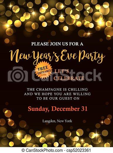Invitación De Fiesta De Año Nuevo Invitación De Año Nuevo