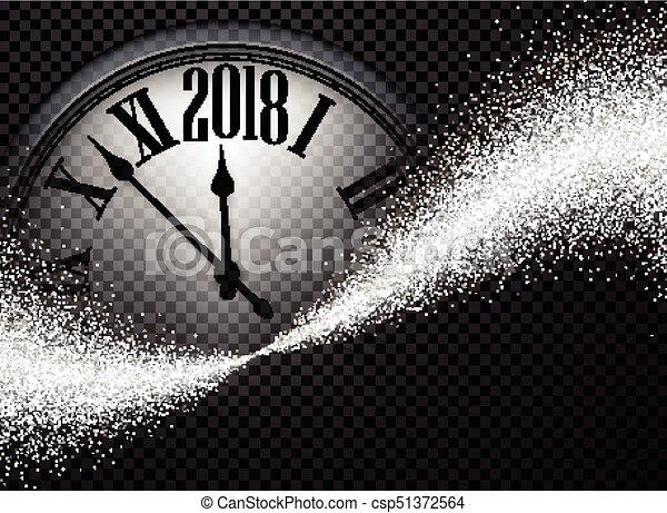 Negro 2018 antecedentes de año nuevo. - csp51372564
