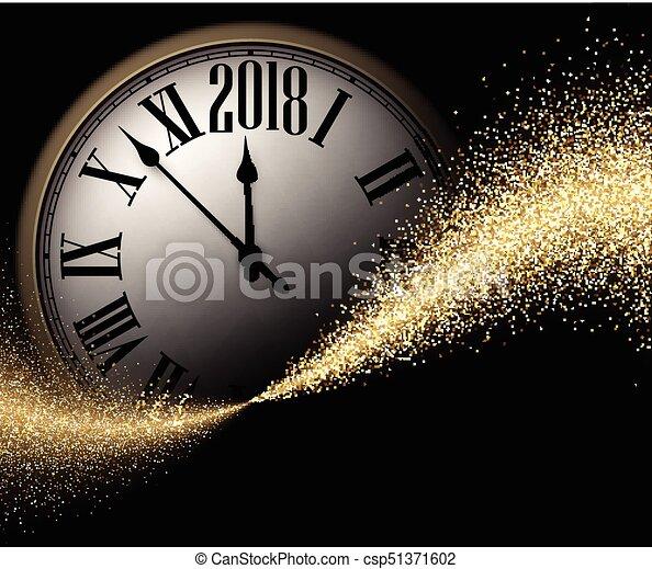 Negro 2018 antecedentes de año nuevo. - csp51371602