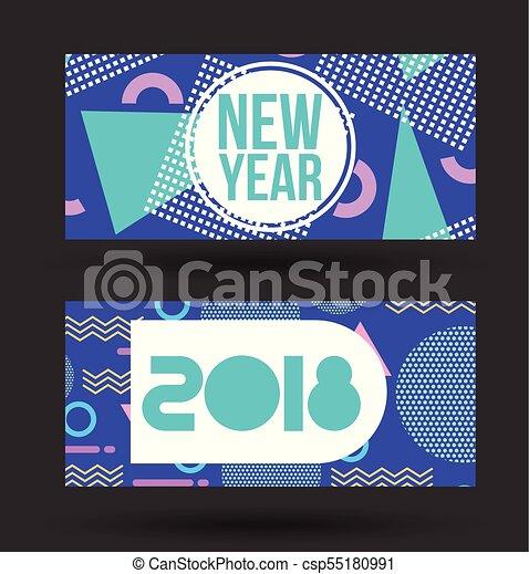 Año Oscuridad 2018 Plano De Fondo Invitación Nuevo