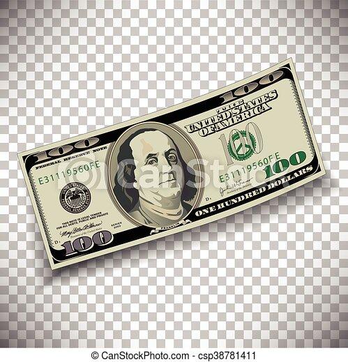 A 100 dollar bill - csp38781411