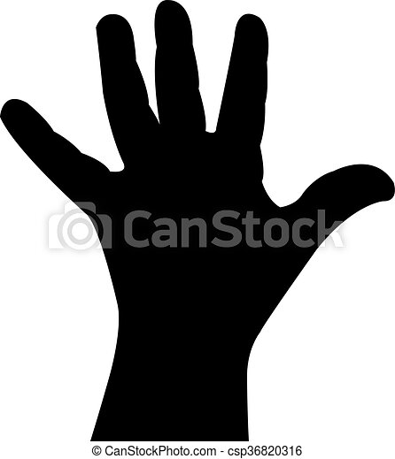a baby hand silhouette - csp36820316