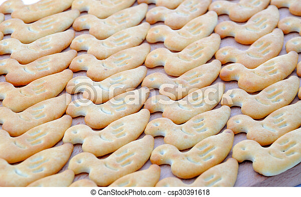 A background of delicious  chip cookies - csp30391618
