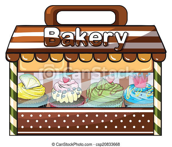 A bakery selling baked goodies and cakes - csp20833668