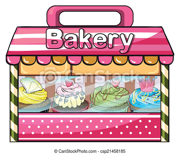A bakery selling baked goodies - csp21458185