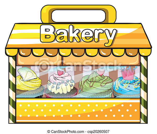 illustration of a bakery stall on a white background vector clipart rh canstockphoto com bakery clip art images bakery clip art images