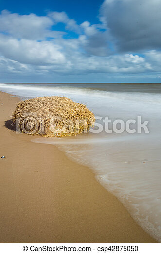 A Bale of Hay on the Sand - csp42875050