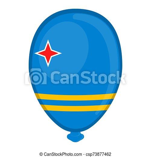 A balloon shaped flag of Aruba - csp73877462