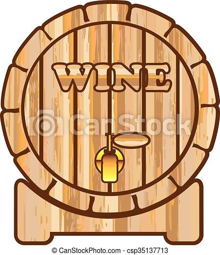 A barrel of Wine vector - csp35137713