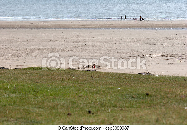 A beach in West Wales - csp5039987