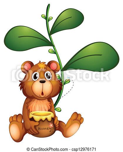 A bear near a vine plant - csp12976171