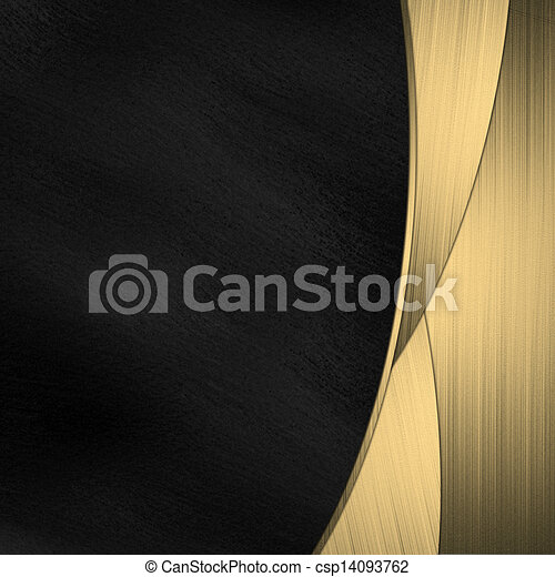 A Beautiful Black And Gold Background Design Template Stock Illustration