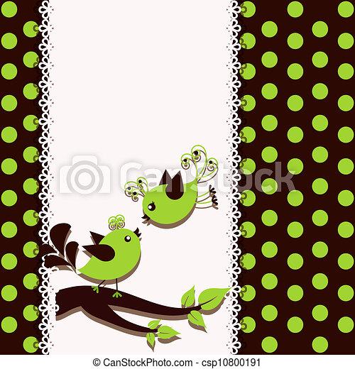 A beautiful card with birds - csp10800191