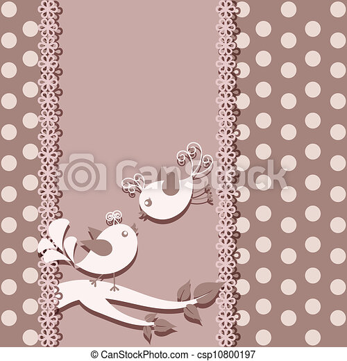 A beautiful card with birds - csp10800197