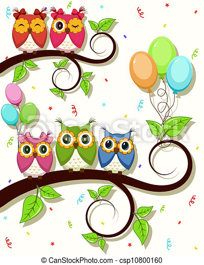 A beautiful card with owls - csp10800160