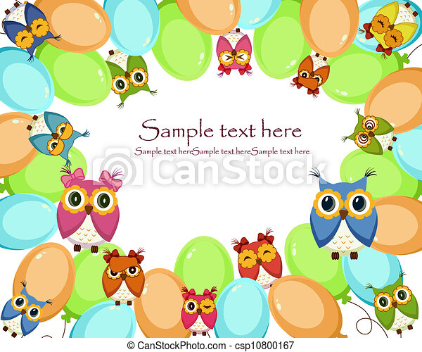 A beautiful card with owls - csp10800167