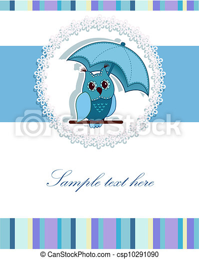 A beautiful card with the owl - csp10291090