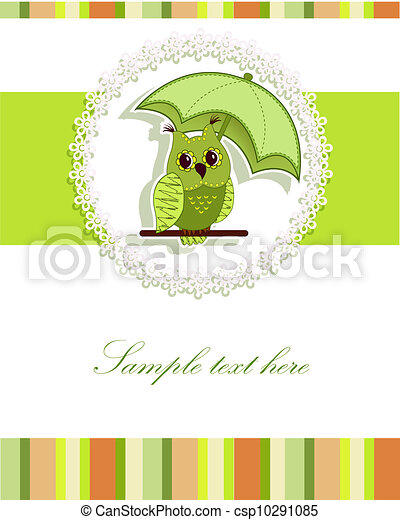 A beautiful card with the owl - csp10291085